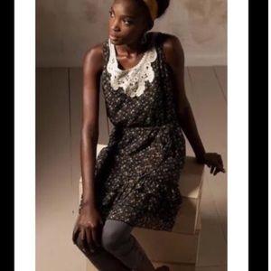 Anthropologie Fei Creeping Zinnia Floral Dress